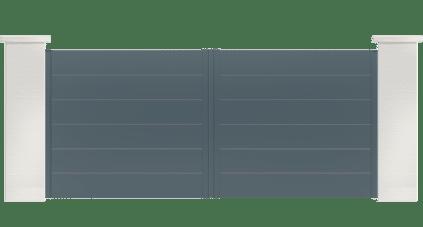 portail aluminium contemporain oreka