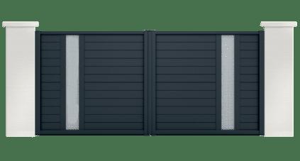 portail aluminium contemporain rutile