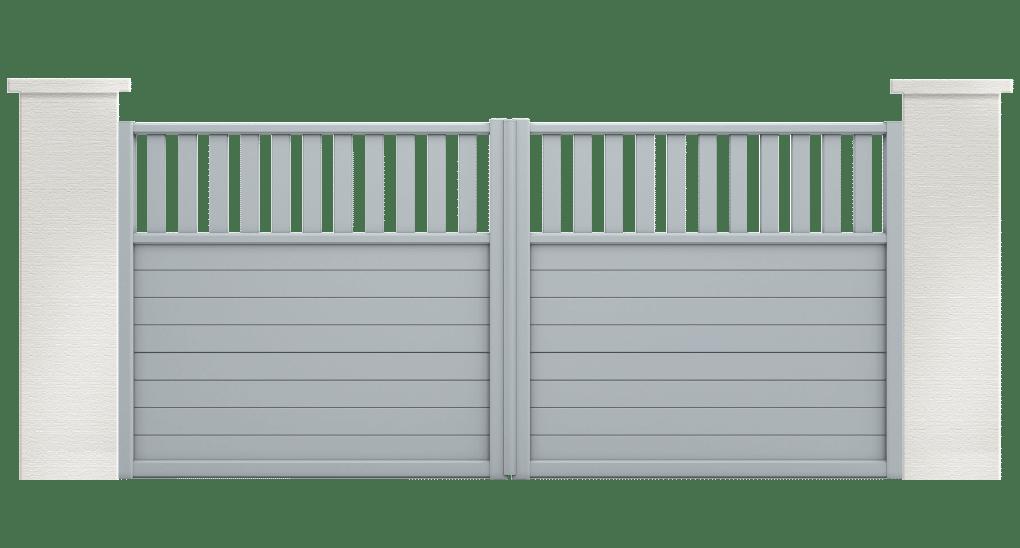 portail aluminium contemporain stibine