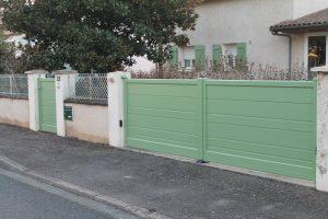 Portail et portillon cordonné vert