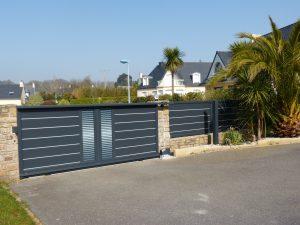 Pose d'un portail ainsi qu'une clôture aluminium