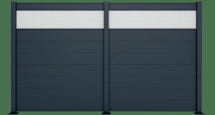 Claustra en aluminium modèle PLUMBAGO, une fabrication sur mesure. Fourniture et pose par des professionnels expérimentés