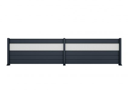 Clôture aluminium Passiflore de la gamme Les Contemporains Charuel