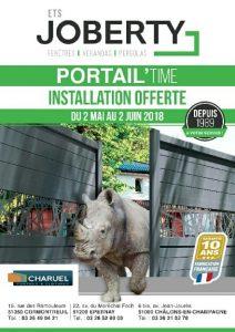 L'installation de votre portail aluminium ou PVC, mais aussi de votre clôture/portillon/claustra est offerte chez votre installateur-conseil Joberty du 2 Mai au 2 Juin 2018