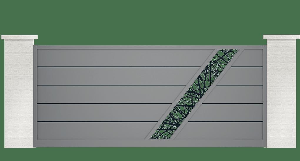 portail aluminium contemporain bellando