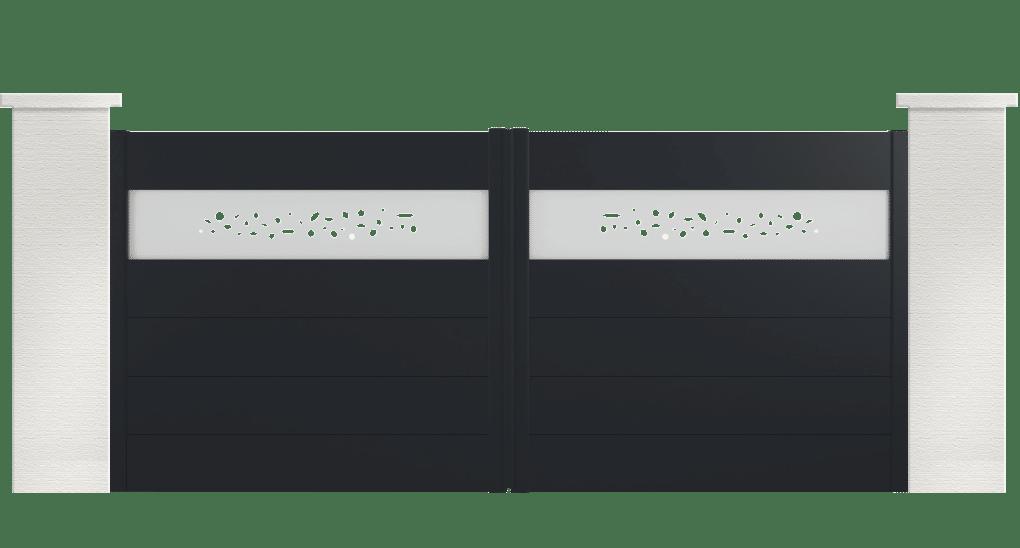 portail aluminium contemporain boloria