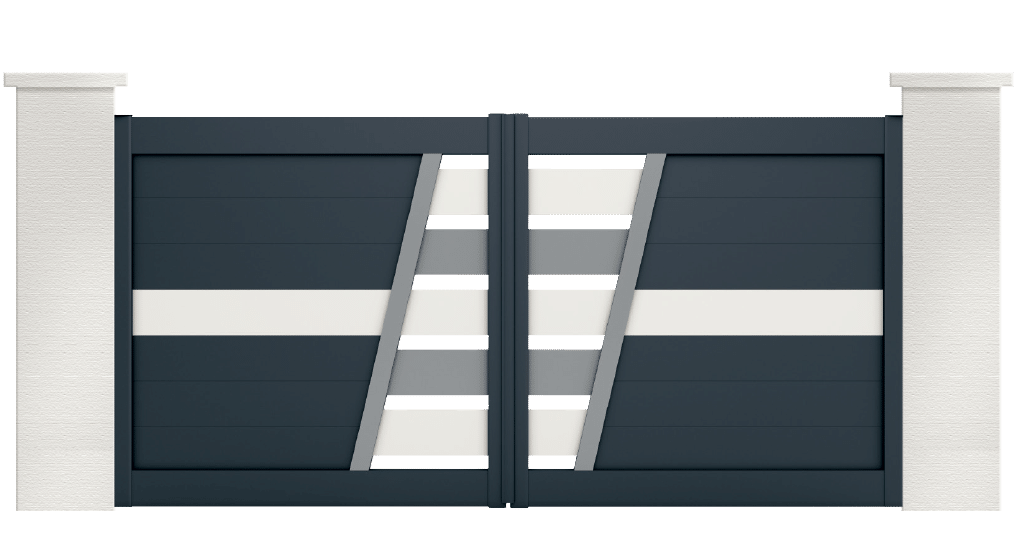 portail aluminium contemporain cupido