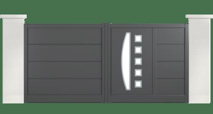 portail aluminium contemporain harvey