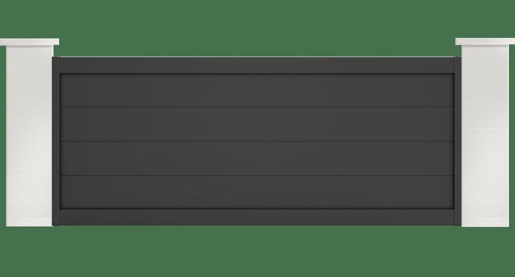 portail aluminium contemporain hyles