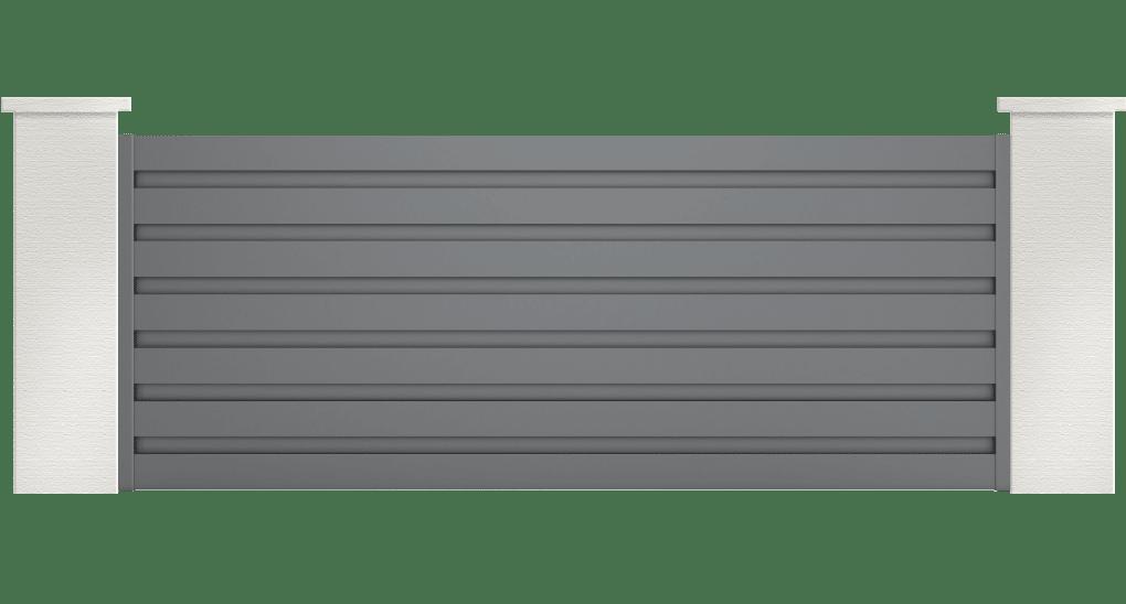 portail aluminium contemporain ligdia