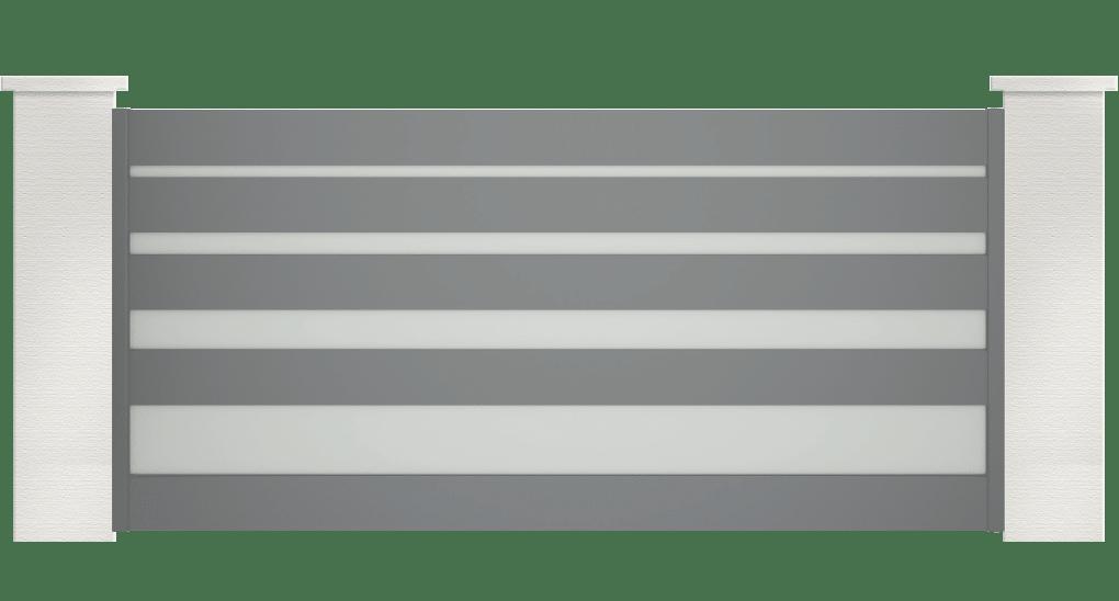 portail aluminium contemporain lysandra