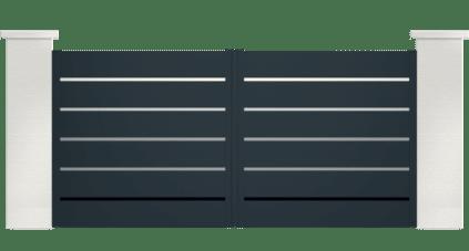 portail aluminium contemporain mellicta