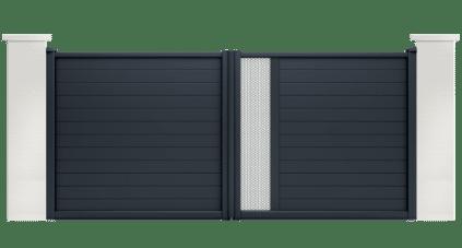 portail aluminium contemporain noctua