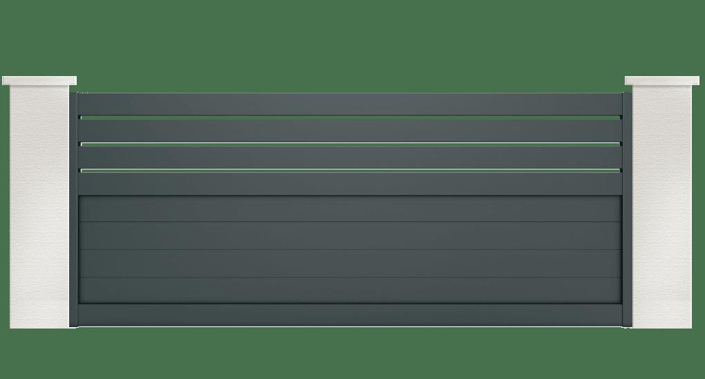 portail aluminium contemporain pyronia