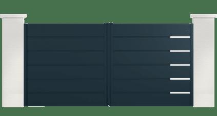 portail aluminium contemporain saturnia
