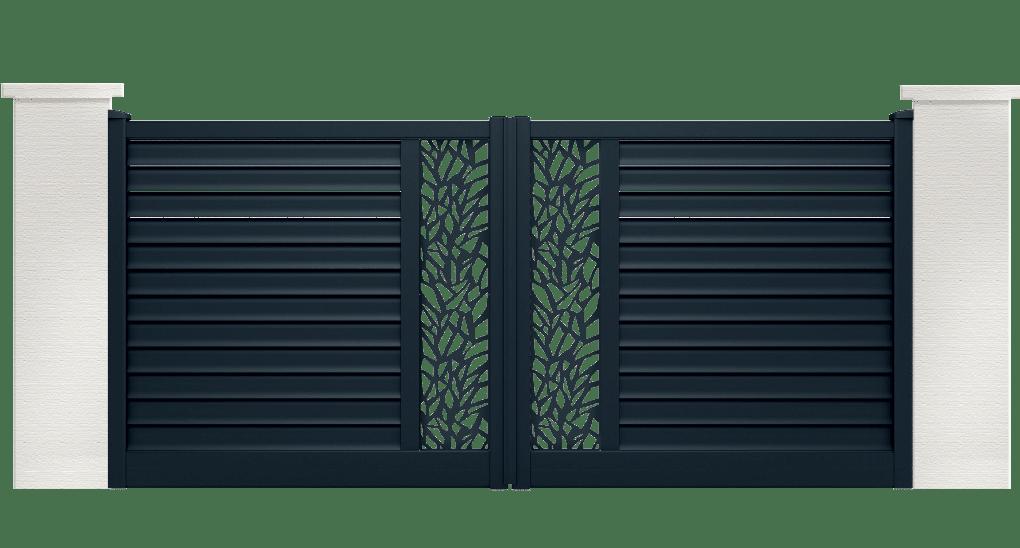 portail aluminium contemporain sousta