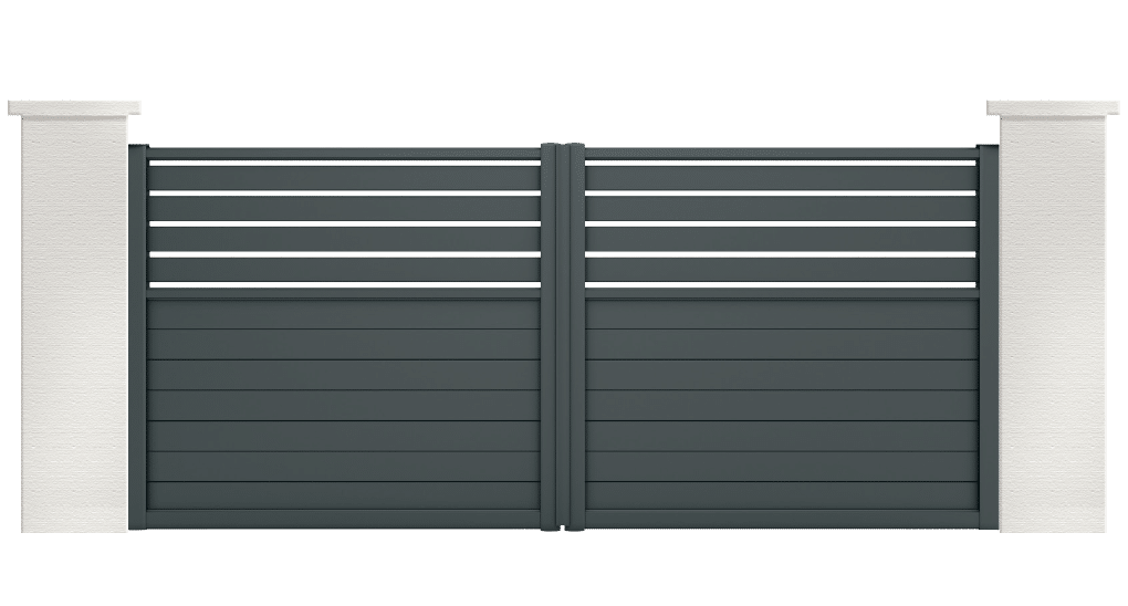 portail aluminium contemporain tyria