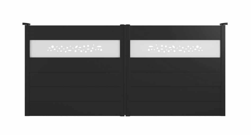 Portail aluminium Boloria, un modèle Charuel élégant de la gamme Les Contemporains