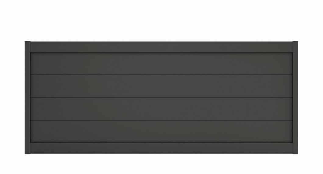 Optez pour la sobriété et l'élégance du portail aluminium Hyles, visible ici dans son coloris Gris 7022 SMF