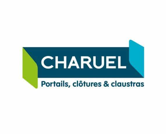 LOGO CHARUEL 2019 portails, clôtures et claustras, fabriqué sur mesure et en France