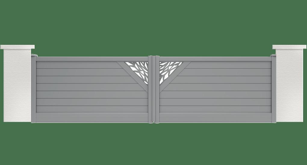 portail aluminium contemporain bromeliard