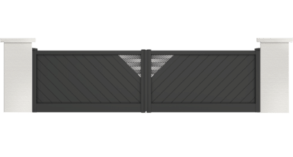 portail aluminium contemporain Fleaming