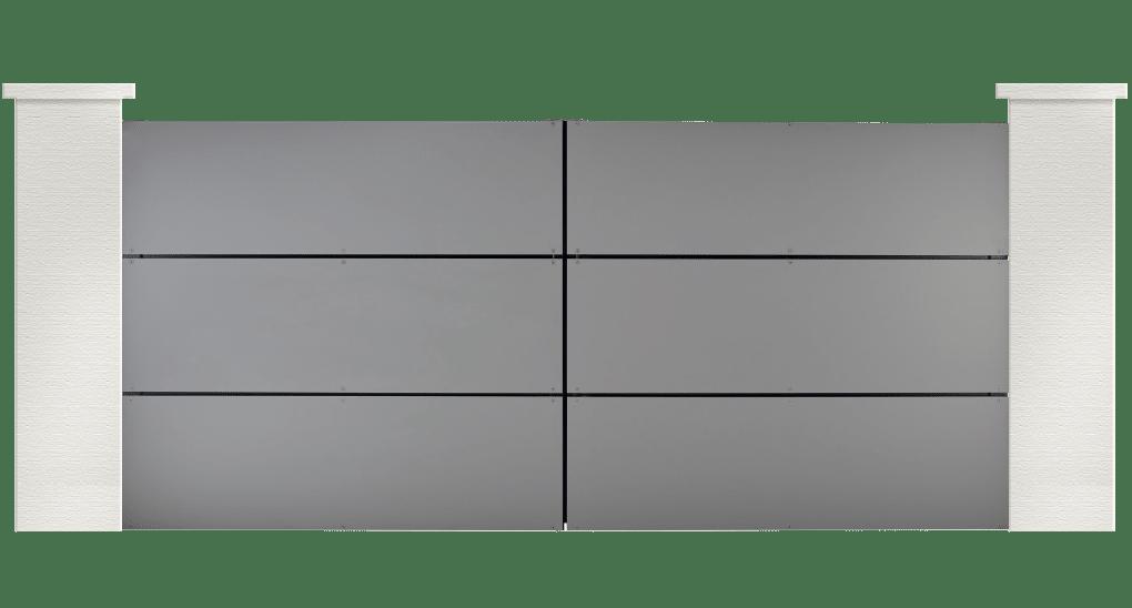 portail aluminium contemporain lithop