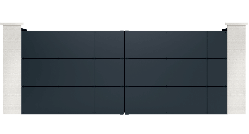 portail aluminium contemporain millaria