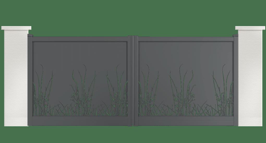 portail aluminium contemporain parkia