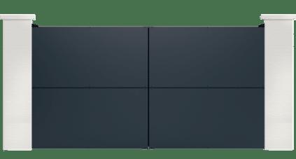 portail aluminium contemporain physalis