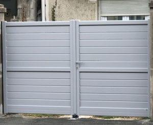 Remplacement-d'un-portail-en-aluminium-à-Angouleme