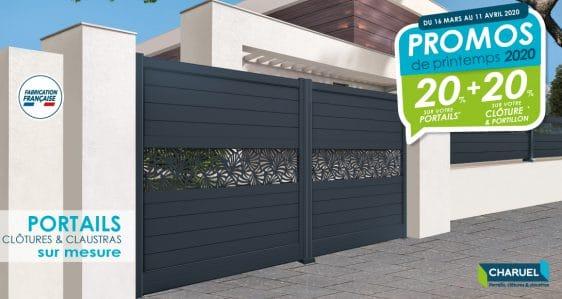 Offre spéciale 2020 | 20% de remise sur votre portail + 20% sur votre clôture et portillon.