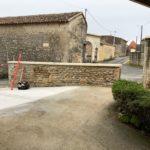 Devanture du comicile avant pose du portail à Asnières sur Nouère