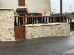 Portillon et clôture en aluminium à Asnières sur Nouère