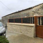 Vue intérieure portillon et clôture à Asnières sur Nouère