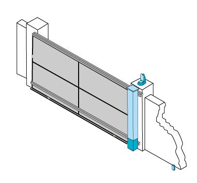 Moteur intégré 1 vantail. Pour portail alu