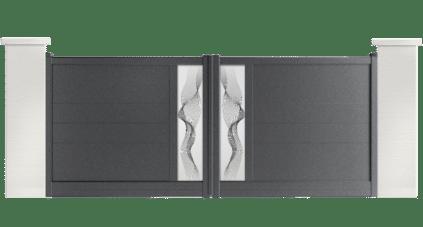 portail aluminium contemporain abott