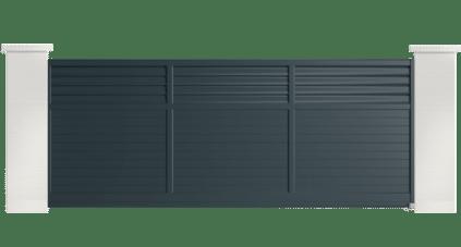 portail aluminium contemporain barsie