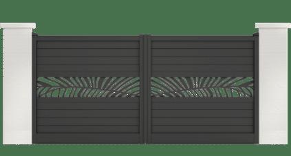 portail aluminium contemporain capret palmier