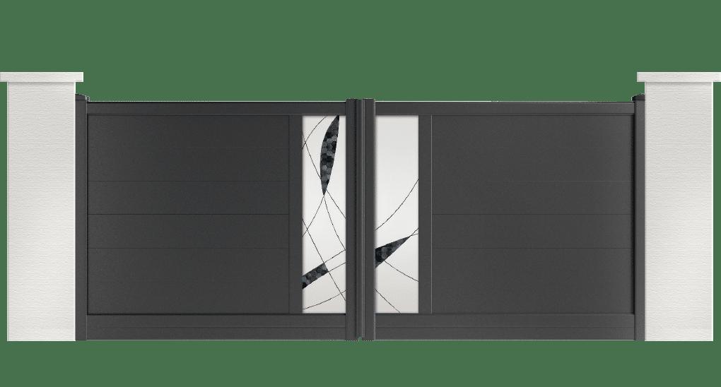 portail aluminium contemporain clayton