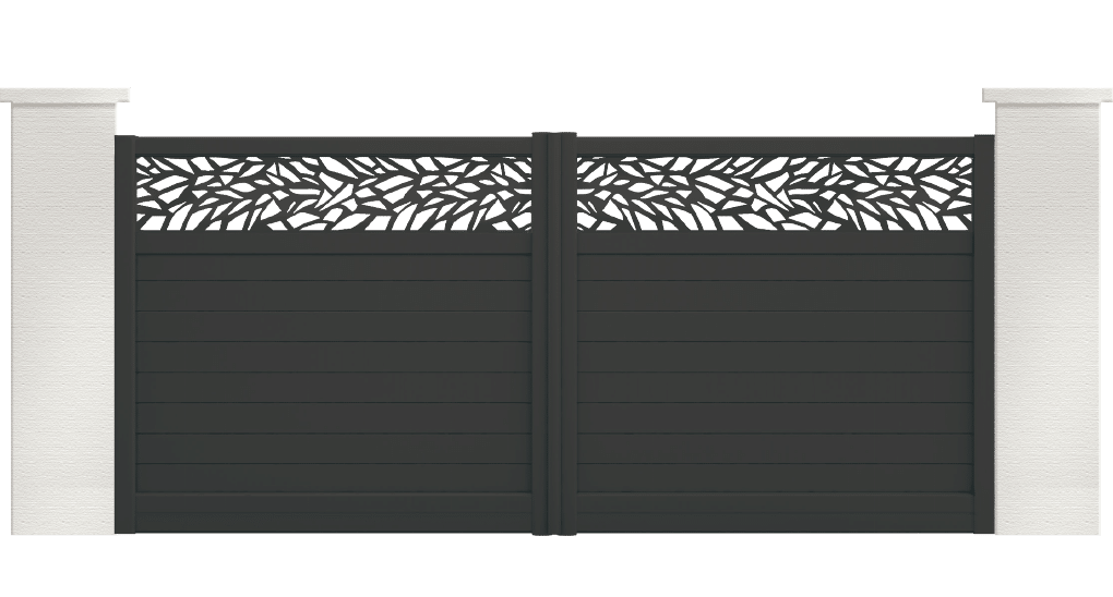 portail aluminium contemporain gambusia