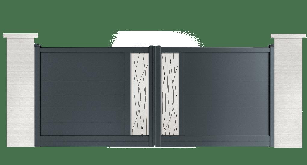 portail aluminium contemporain gill