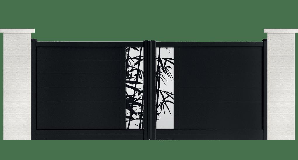 portail aluminium contemporain lamb