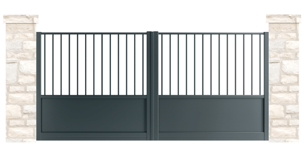 portail aluminium contemporain mall