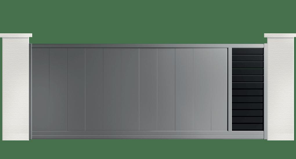 Portail aluminium contemporain Merion