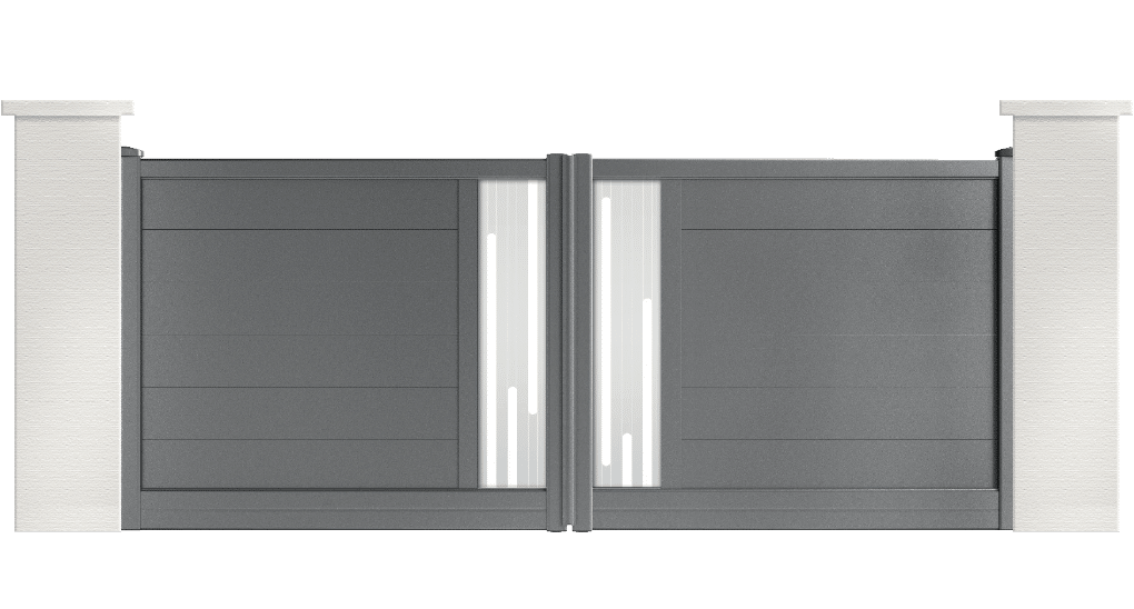 portail aluminium contemporain patton