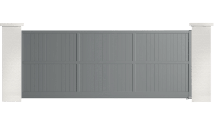 portail aluminium contemporain plaintain