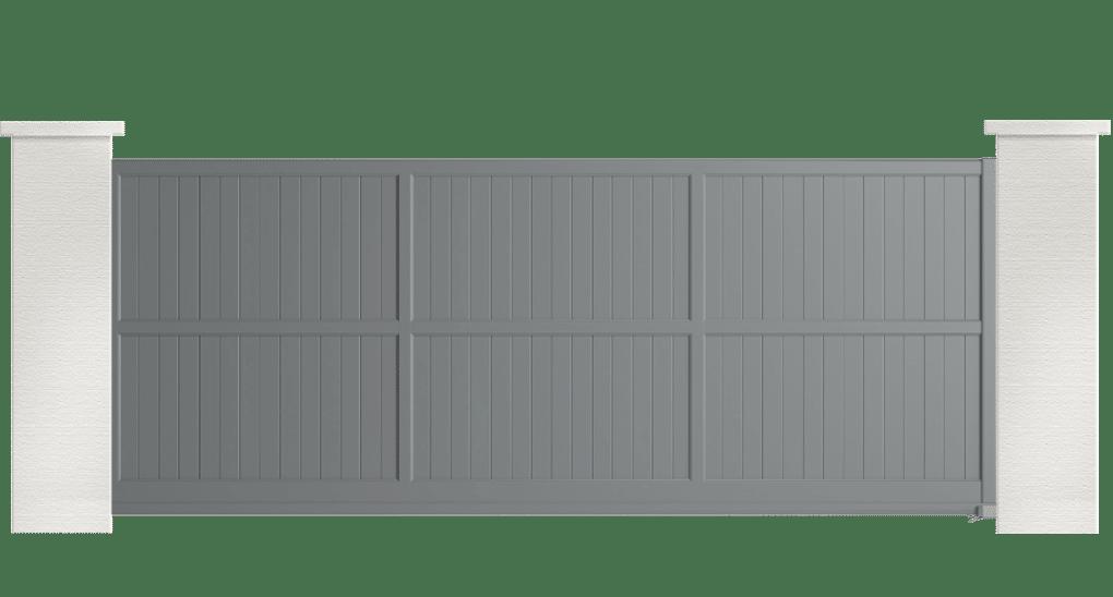 portail aluminium contemporain plaintain