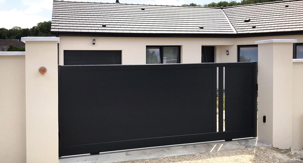 Votre portail aluminium personnalisable et fabriqué sur mesure en France