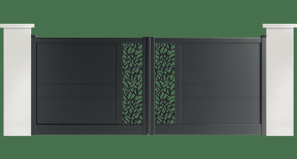 portail aluminium contemporain pretel